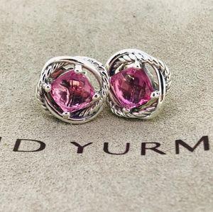 David Yurman Infinity Earrings with Pink Turmaline